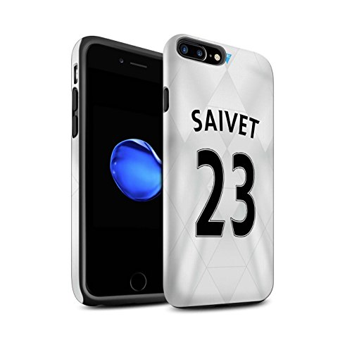 Offiziell Newcastle United FC Hülle / Matte Harten Stoßfest Case für Apple iPhone 7 Plus / Tioté Muster / NUFC Trikot Away 15/16 Kollektion Saivet