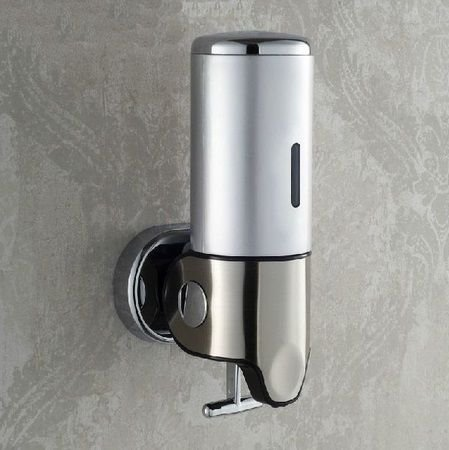 babybasket 500ml Single Pump Stainless Steel Wall Mounted Shower Shampoo Soap Dispenser