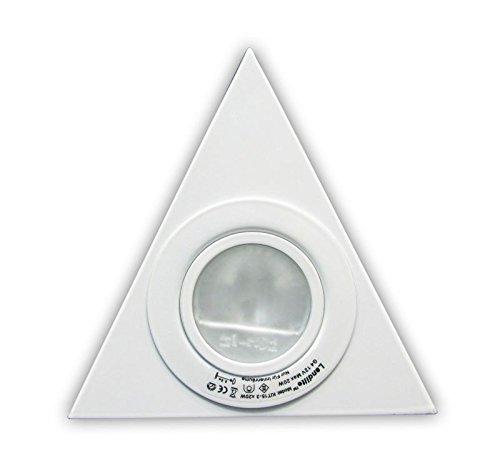 SUCCSALE ® LANDLITE Hochwertiges 3 er Set Halogen Dreieckleuchte - Küchenleuchte - WARMWEISS mit Trafo (Konverter) [Energieklasse A+]-Farbe: weiß mit 12 V Konverter