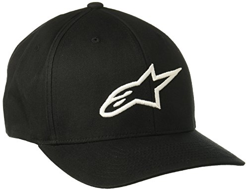 Alpinestars Herren Ageless Curve Men's Logo Flexfit Hat Curved Bill Flex Back Cap, Schwarz, L/XL