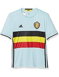 adidas RBFA A Jsy Y - Camiseta para niño, color blanco / negro / amarillo / rojo