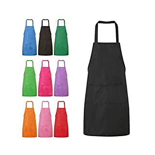 NYKKOLA Chefs Kitchen Apron for Women Girls Cooking Restaurant Work BBQ Gardening Home with Pockets