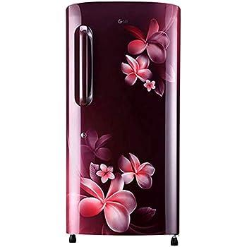 LG 215 L 4 Star Direct-Cool Single Door Refrigerator (GL-B221ASPD, Scarlet Plumeria)