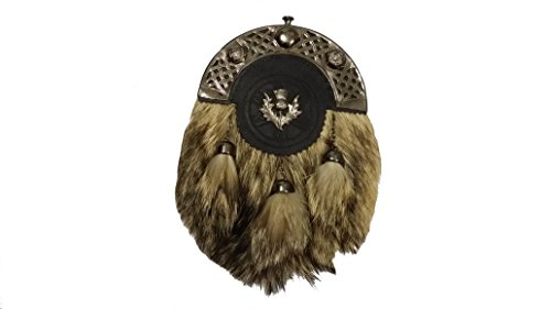Highland Full Kleid Kilt Sporran Fox Fell Keltisches hinterzwiesel Antik/Schottische Kilt Sporrans kilttaschen -