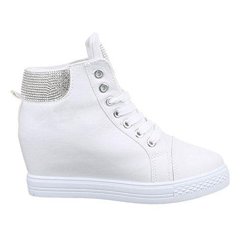 Damen Schuhe 51153y Freizeitschuhe Keilabsatz Hightop Sneaker