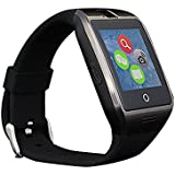 Stoga Smart Watch Touch Screen Bluetooth Watch Anti-lost SMS Sync Pedometer Watch Phone Sleep Monitoring Stopwatch Photograhph Sports Smartwatch for Android Phone-Black