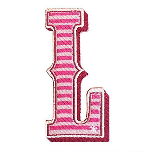 UPSS-Studio* Textil Sticker zum Aufkleben. Personalisiere deine Lieblingsaccessoires. Buchstabe L Alphabet -