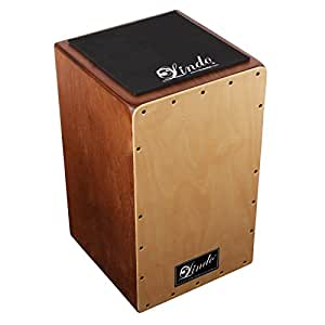Lindo Platanus Hispanica and Birch Wood Spanish Cajon Drum Adjustable V-Snare