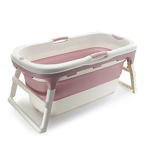 QPP-YP Baby-Wanne, Faltbare Baby-Wanne, Haus kann für die Badewanne der Kinder verwendet Werden, beweglich mit einem Regal, Hauptreise, einfach, umweltsmäßig sicher zu Falten,Pink (Falten Baby Wanne)