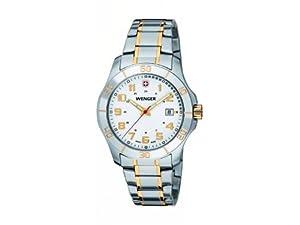 Wenger 70477 - Reloj de pulsera hombre, Acero inoxidable, color Plateado de Wenger