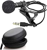 Alfa Mart Combo Dynamic 3.5mm mic Clip Microphone For Youtube, Collar Mike For Voice Recording, Lapel Mic Mobile, Pc, Laptop,