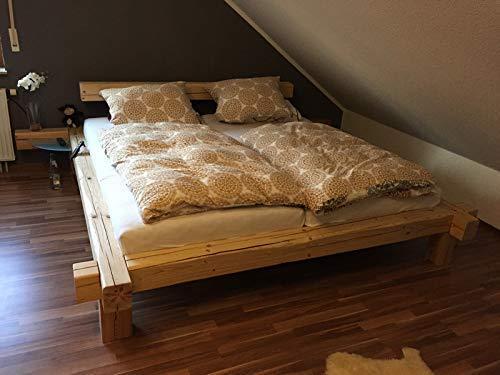 Bett aus Altholz Balkenbett Mass...