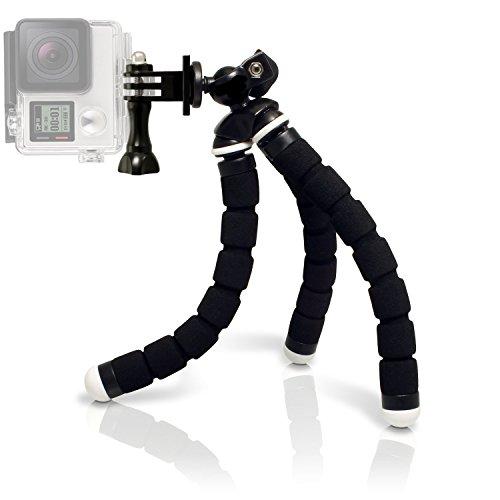 micros2u Oktopus-Stativ für Gopro-Kameras, klein und flexibel, tragbar, 2-in-1, komplett aus Metall, ideal für unterwegs Geeignet für Gopro Hero, Session, Kompaktkameras und andere Action-Kameras. -