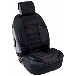 Couvre siege Grand Confort Airbags Lateraux Maille respirante avec Elasto system Noir