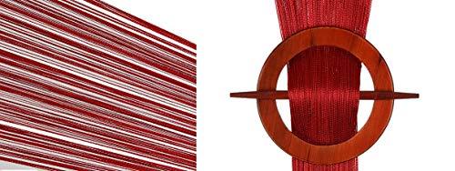 engardine Türvorhang 100x200 / 150x250 / 300x250 cm (6. Weinrot, 300 x 250 cm) ()