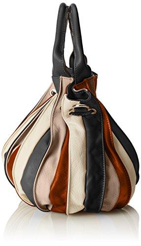 CTM Damenhandtasche, Einkaufstasche aus echtem Leder hergestellt in Italien 28x27x28 Cm Orange (Cuoio)