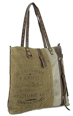 mujer bolsa de mensajero vintage bolsa cruzada de lona militar 43x39x10 cm 1804