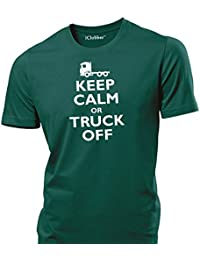 iClobber Lorry Keep Calm and Truck Off Lorry Driver Trucker Funny Mens T Shirt
