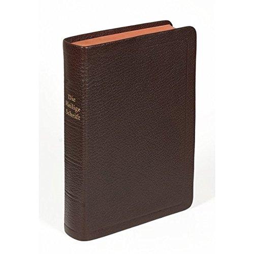 Die Bibel - größere Taschenbibel (Leder, braun): Elberfelder Übersetzung 2003, Edition CSV Hückeswagen, Ziegenleder, Rot/Goldschnitt mit Karten -