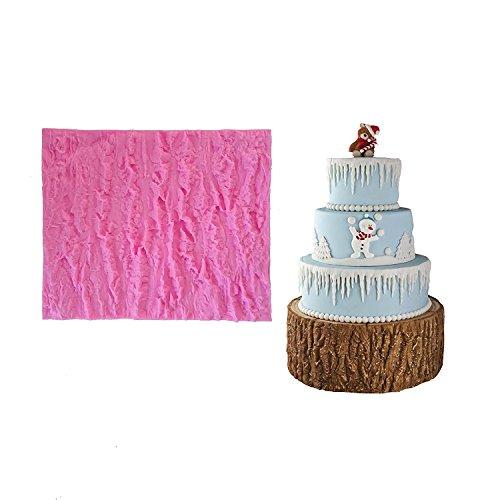 september-europe Baum Rinde Textur Matten Fondant Mermaid Silikonform, handgefertigte Seife, Kuchen Formenbau Dekorieren, Fondant Backform (Rinde Seife)