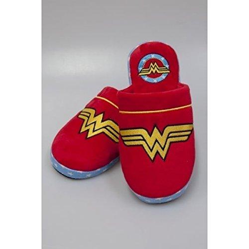 Wonder Woman Logo Pantofole multicolore - Donna, Rosso, 35-37 EU