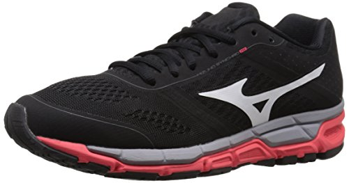 Mizuno Synchro MX Synthétique Baskets Black-White-Pink