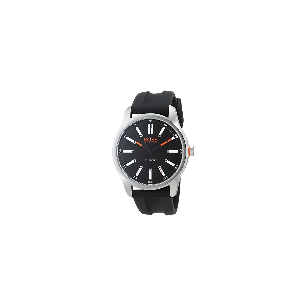 41gQ7GgHrfL. SS1200  - Hugo Boss Orange Reloj Análogo clásico para Hombre de Cuarzo con Correa en Silicona 1550042