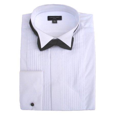 Chemise habillée à col plissé 100% coton - blanc - Taille Unique