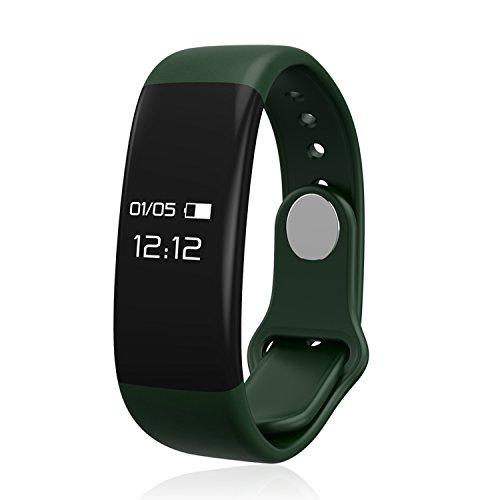 Fitness Tracker, IVSO Fitness Armband Sport Fitness Aktivitätstracker Schrittzähler Tracker Kalorienzähler smart bracelet mit Schlafmonitor, Schrittzähler, Kalorienzähler, SMS Anrufe Reminder für für iPhone iOS und Android Smartphones, Passt nicht zu Tablet PC