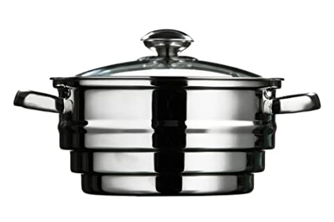 Premier Housewares Steamer with Glass Lid Stainless Steel, 21