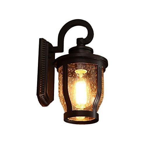 Retro mur imperméable à l'extérieur de l'allée de jardin balcon feux, Wall Lamp allume la lumière du couloir routier Villa Jardin Lumière escalier extérieur Lampe Murale Eclairage Extérieur 32*20cm Couleur : Sélectionnez ( # 1 )