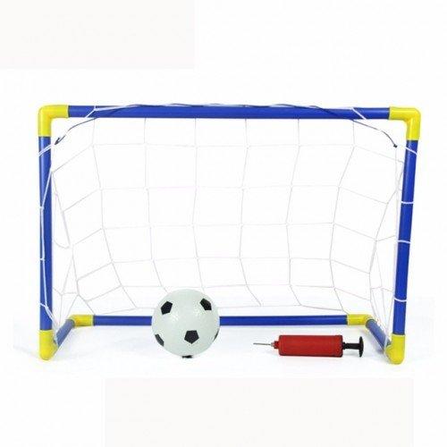 SLYTEK Football Soccer Goal Post, Net, Ball, Pump Kit All in one Indoor Outdoor Game for Kids