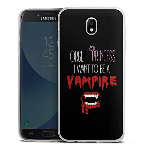 Silikon Hülle Ultra Dünn Schutzhülle kompatibel mit Samsung Galaxy J7 Duos 2017 Hallowen Spruch Vampir ()