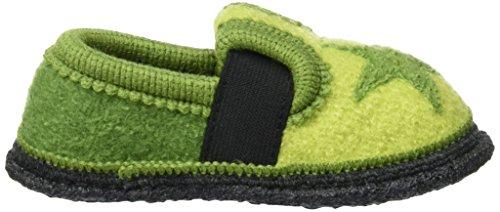 Kitz-Pichler Mädchen Bobby Stern Flache Hausschuhe Grün (Grün)