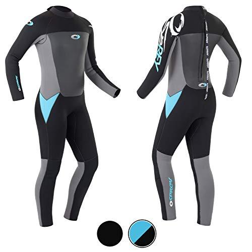 Osprey Origin Neoprenanzug Damen 5mm Lang Winter Wetsuit und Surfanzug, Blau, Groß (L)