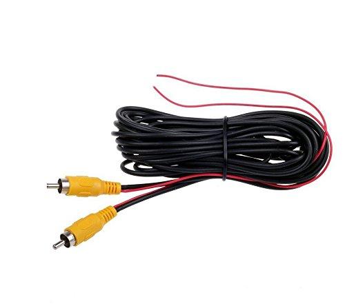 Standard Videokabel 12 V Cinch RCA mit Reverseleitung 6 Meter länge für Monitor Rückfahrkamera Rückfahrsystem YMPA VK-RCAS5R