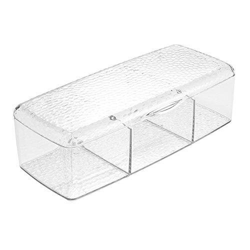 InterDesign Rain Beauty Box, kleines Schmuckkästchen aus Kunststoff, durchsichtig