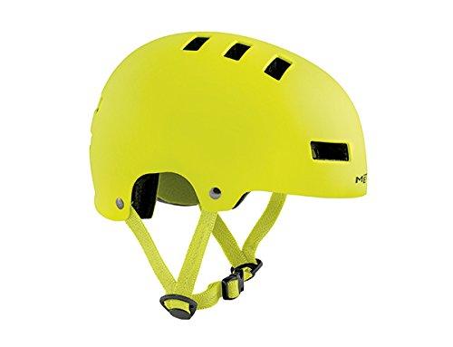 fahrradhelm neon gelb MET Jugendhelm YoYo Safety Yellow M 54-57 cm, Neon Gelb