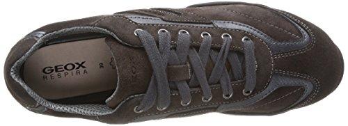 Geox D Arrow F, Baskets Basses Femme Gris (c9002dk Grey)
