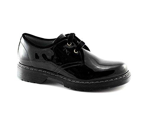 Nero Giardini Black Jardins Junior Fille Noir Chaussures Lacets 31790 Lisse Peinture