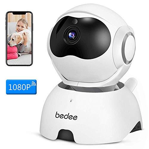 1080P WLAN IP Kamera, bedee FHD WiFi Überwachungskamera Wireless Babyphone mit Bewegungserkennung, Zwei-Wege-Audio, IR Nachtsicht, Fernalarm, Unterstützt Baby/Haustier/Zuhause Monitor über Handy Kamera-speicher