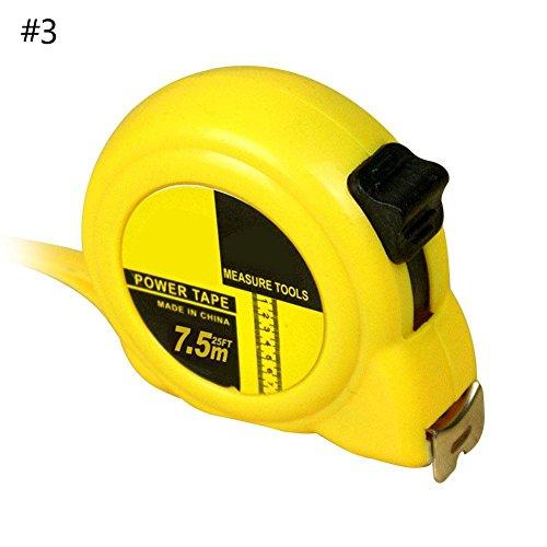 ShenTan Einziehbare metrische / Fuß / Zoll 10 '/ 16' / 25 'messendes Maßband-Werkzeug (7.5m*25m) (Fuß Maßband 25)