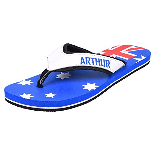 ARTHUR Men's Casual Blue Rubber Slippers Size 7  available at amazon for Rs.299