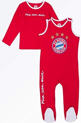 Bayern München kompatibel Baby Strampler + Sticker München Forever, Babystrampler (74/80)