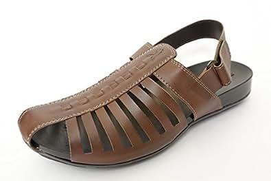 Kik Mens Gladiator sandalCR1Tan6