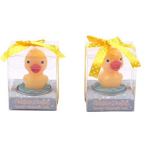 Creative amarillo pato aromaterapia sin humo té luz bonita forma de animal velas para Navidad decoración de la boda 2pcs