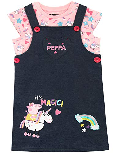 Peppa Pig Set Overol Niñas Unicornio Multicolor 5-6