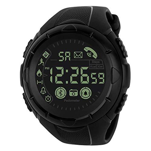 friendGG Intelligente Uhr Bluetooth-Sport-Armbanduhr Der Art- Und WeisemäNner Wasserdicht Neu Damen Herren Uhr Uhren Watch Casual üBerwachung Analoge Uhrenarmband Armbanduhren -