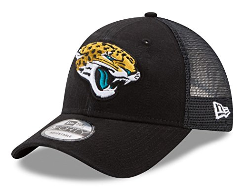 New Era Herren 9FORTY Trucker Washed Jacksonville Jaguars NFL Cap, Black