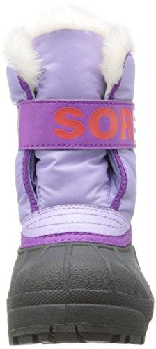 Sorel Snow Commander Childrens Unisex-Kinder Lauflernschuhe Violett (Violet (501 Whitened Violet Corange))